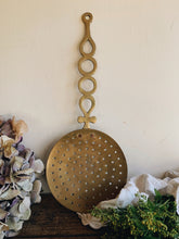 Load image into Gallery viewer, Large Antique Brass Ladle Spoon