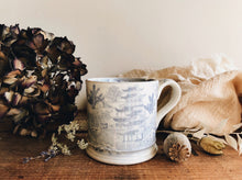 Load image into Gallery viewer, Antique Blue & White Ceramic Mug