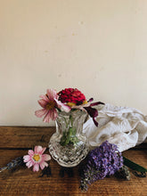 Load image into Gallery viewer, Vintage Thistle Glass Posy Vase