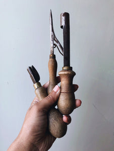 Antique Small Collection of Wooden Tools
