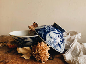 Vintage Blue Decorative Bowl (sold separately)