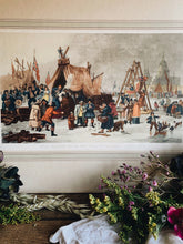 Load image into Gallery viewer, Extra Large Vintage Print ~ The Frost Fair On The River Thames (UK shipping only)
