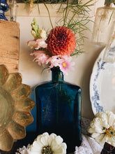 Load image into Gallery viewer, Vintage French Large Blue Bottle