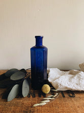 Load image into Gallery viewer, Antique Cobalt Blue Apothecary Bottle ~ not to be taken monogramed