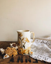 Load image into Gallery viewer, Antique Yellow Floral Jug
