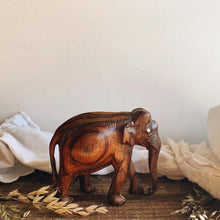 Load image into Gallery viewer, Rustic Hand~carved Wooden Elephant