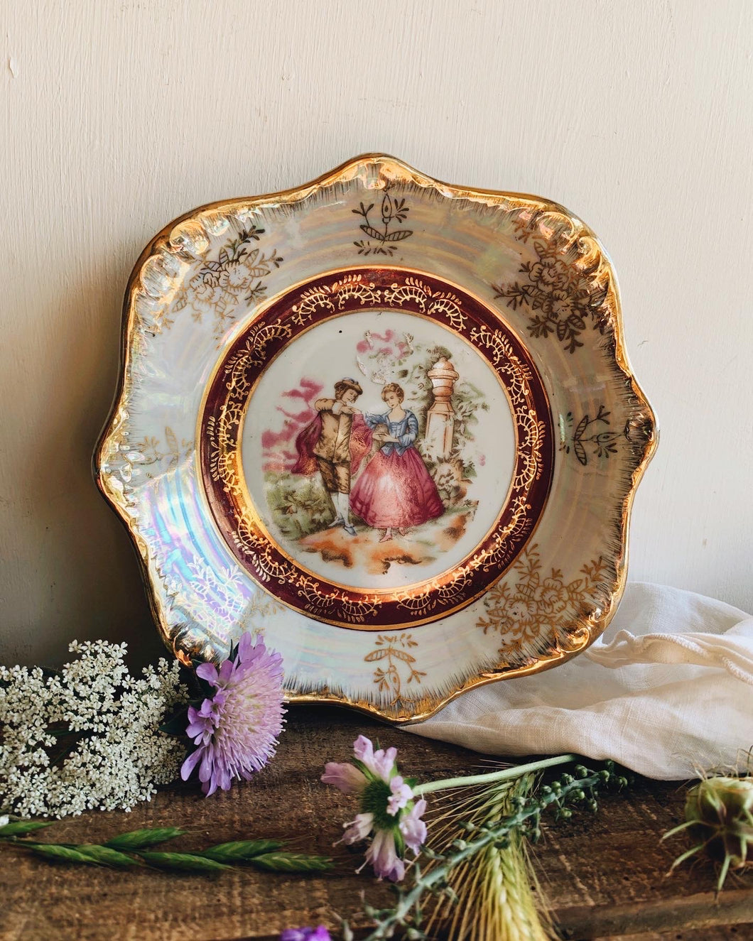 Vintage Whimsical Decorative Plate