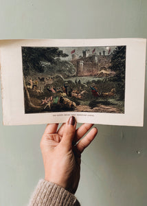 "1800's ""the guest depart from Donkeyton castle"" Bookplate"