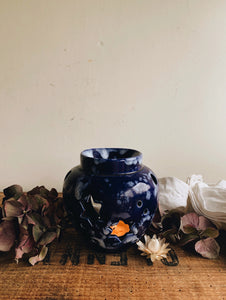 Rustic Star Blue Glaze Holder