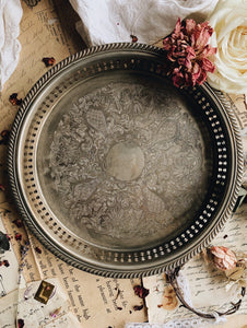 Vintage Silver (plated) Decorative Tray