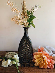 Rustic Hand~Thrown Botanic Decorative Ceramic Vase