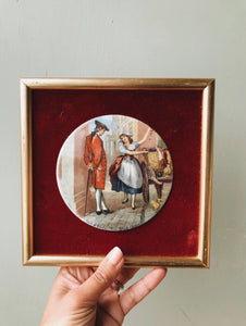 Vintage Staffordshire Vintage Enamel Illustration Artwork ~ 1
