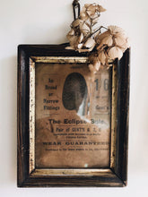Load image into Gallery viewer, Antique 1800's Frame & Original Newspaper Advertisement