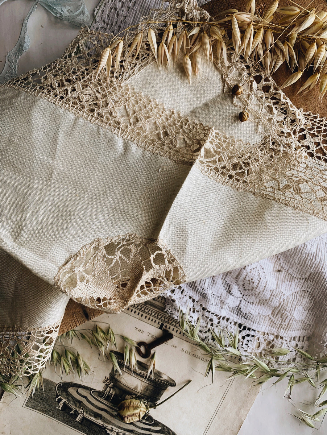 Three Antique French Linens
