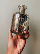 Load image into Gallery viewer, Vintage Silver Glass Vase / Bottle