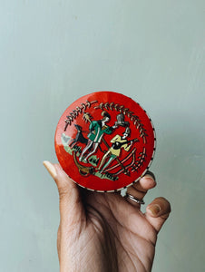 Vintage Red Narrative Tin