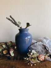 Load image into Gallery viewer, Antique Cornflower Blue Polish Pot