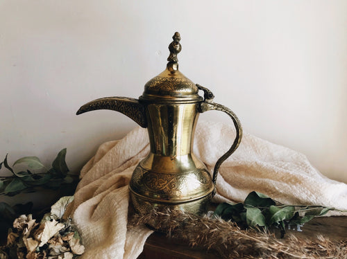 Antique Brass Decorative Coffee Pot