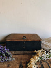 Load image into Gallery viewer, Vintage 1950's Wooden Box
