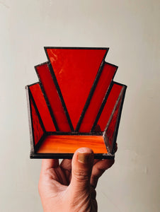 Art Deco Stained~glass Holder