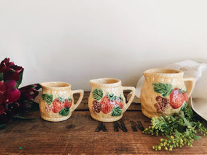 Summer Fruits Basket Kitsch Jugs