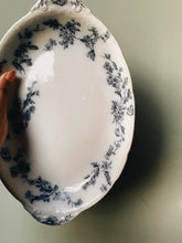 Load image into Gallery viewer, Antique Porcelain Ford Sandon Blue Floral Dish