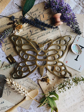 Load image into Gallery viewer, Vintage Brass Butterfly Trivet