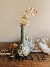 Load image into Gallery viewer, Vintage Green Floral Vase