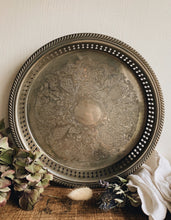 Load image into Gallery viewer, Vintage Silver (plated) Decorative Tray