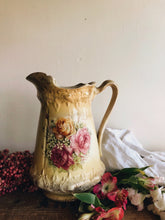 Load image into Gallery viewer, Antique Yellow Rose Rocco Vase