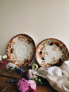 Two Antique Dilhorne Side Plate & Saucer