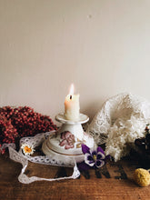 Load image into Gallery viewer, Two Vintage Old English Bone China Floral Candle Holders