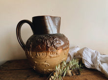 Load image into Gallery viewer, Large Antique Doulton Relief Narrative Salt Glaze Jug (UK POSTAGE ONLY)