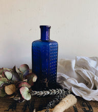 Load image into Gallery viewer, Antique Cobalt Blue Apothecary Bottle