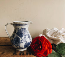 Load image into Gallery viewer, Vintage Blue & White Floral Jug