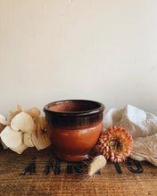 Load image into Gallery viewer, Vintage French Rustic Salt Glaze Terracotta Pot