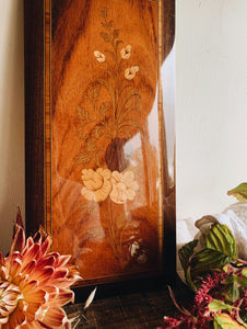 Antique Wooden Floral Artwork
