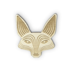 Wooden brooch - Fox