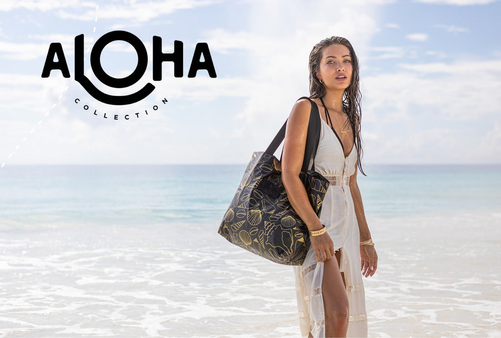 Aloha Collection is filled with cute and functional clutches, totes and Hip packs. These bags are perfect for the beach lifestyle or the vacation jetsetter. They make great gifts for all.