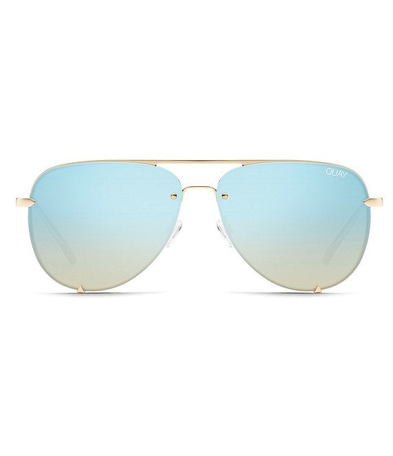 High Key Rimless Gold/Blue Turq