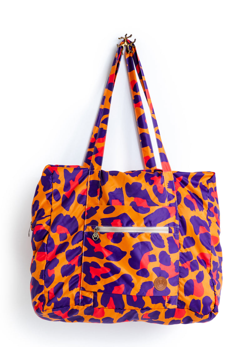 Packable Tote Roll Me Up Bright Jaguar