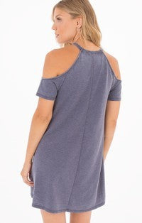 Cold Shoulder S/S Dress Graphite