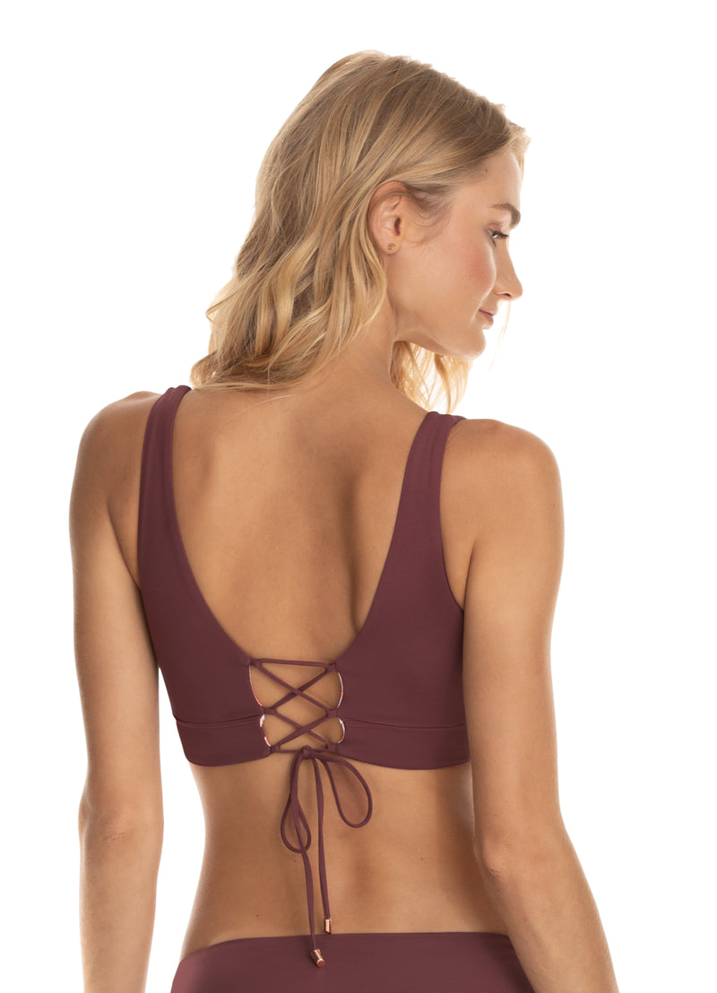 Allure Halter Top Crimson Circus