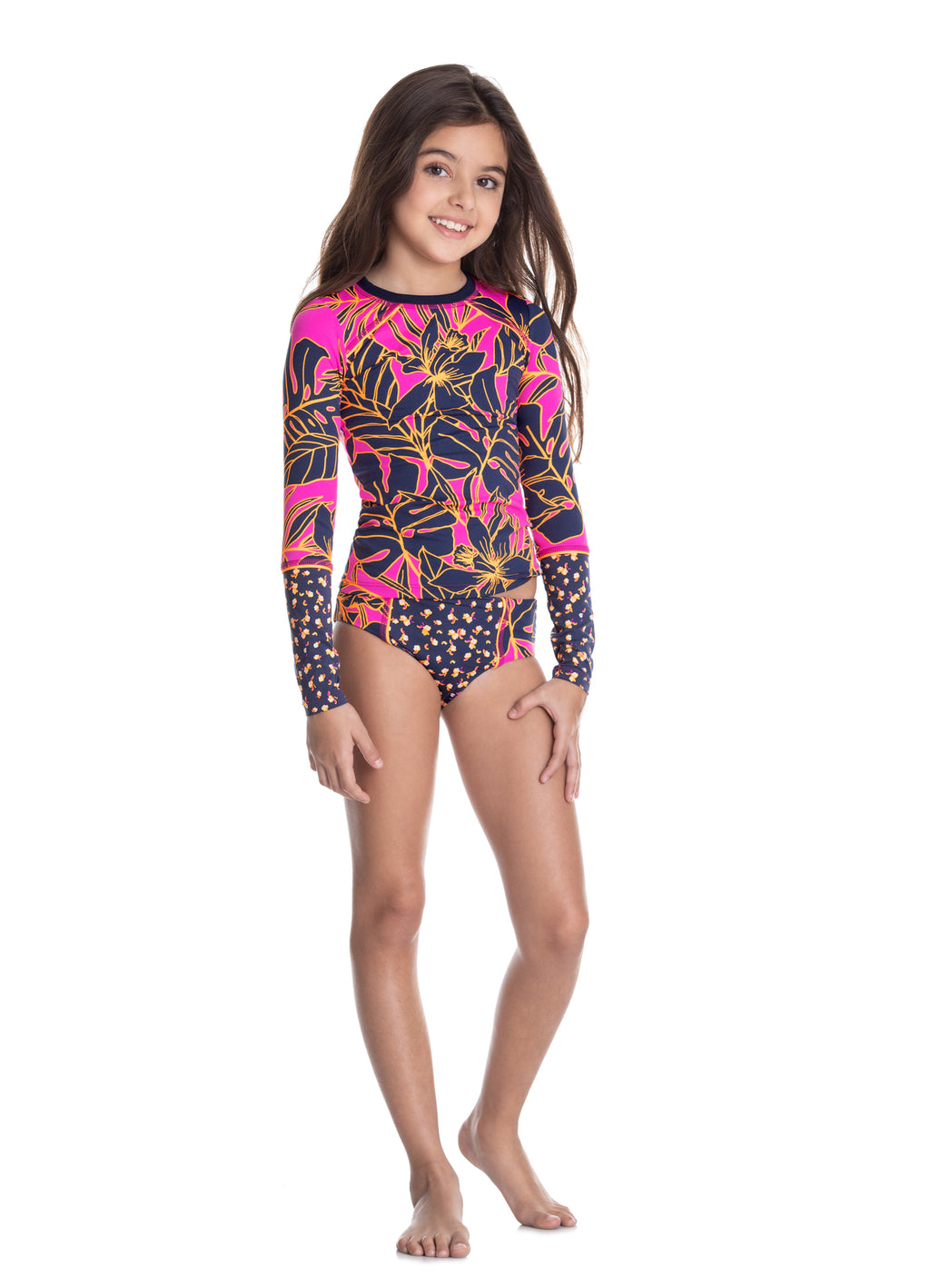 Girls Turtle Bay Rashguard Set