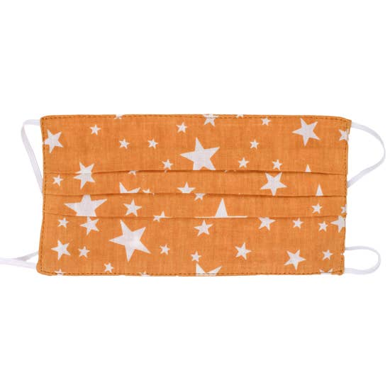 Butterscotch Stars Face Mask