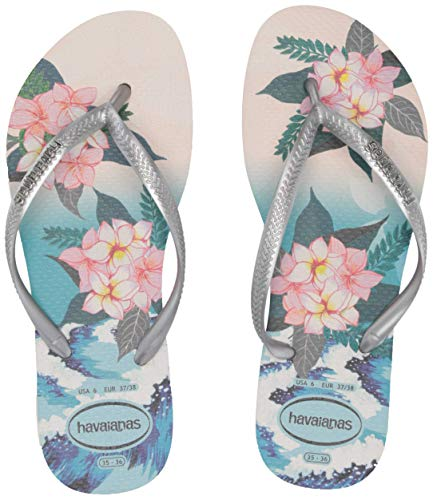 Slim Tropical Sunset Sandal Beige