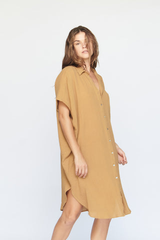 Going Steady Mini Dress Rust