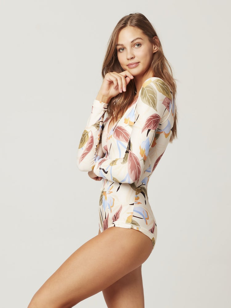 Mod Long Sleeve One Piece Aloha Paradise