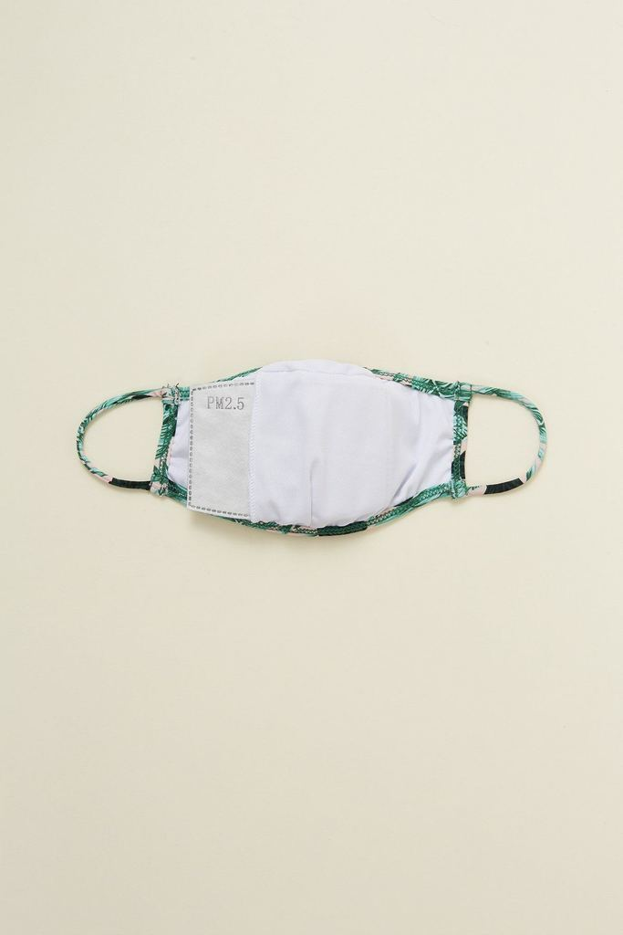 Green Palms Face Mask