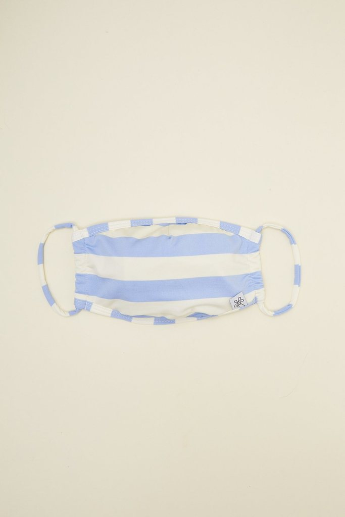 Beach Stripes Sky Face Mask